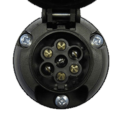 Single 7 Pin (12N) Towbar Electric Socket
