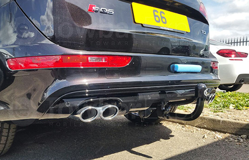 Audi Q5 detachable swan neck towbar