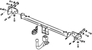 Jeep Renegade Towbar Drawing