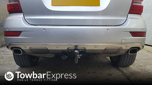 Mercedes M Class detachable towbar fitted