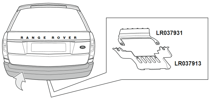 Land Rover bumper panels