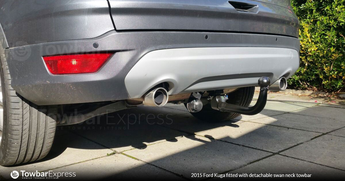 Ford Kuga fitted with a detachable swan neck towbar