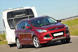 Ford Kuga towing a caravan