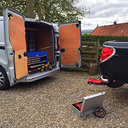Towbar Express Van Working