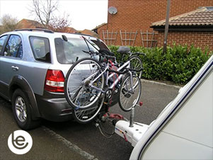 Car Carrying Bike while Towing