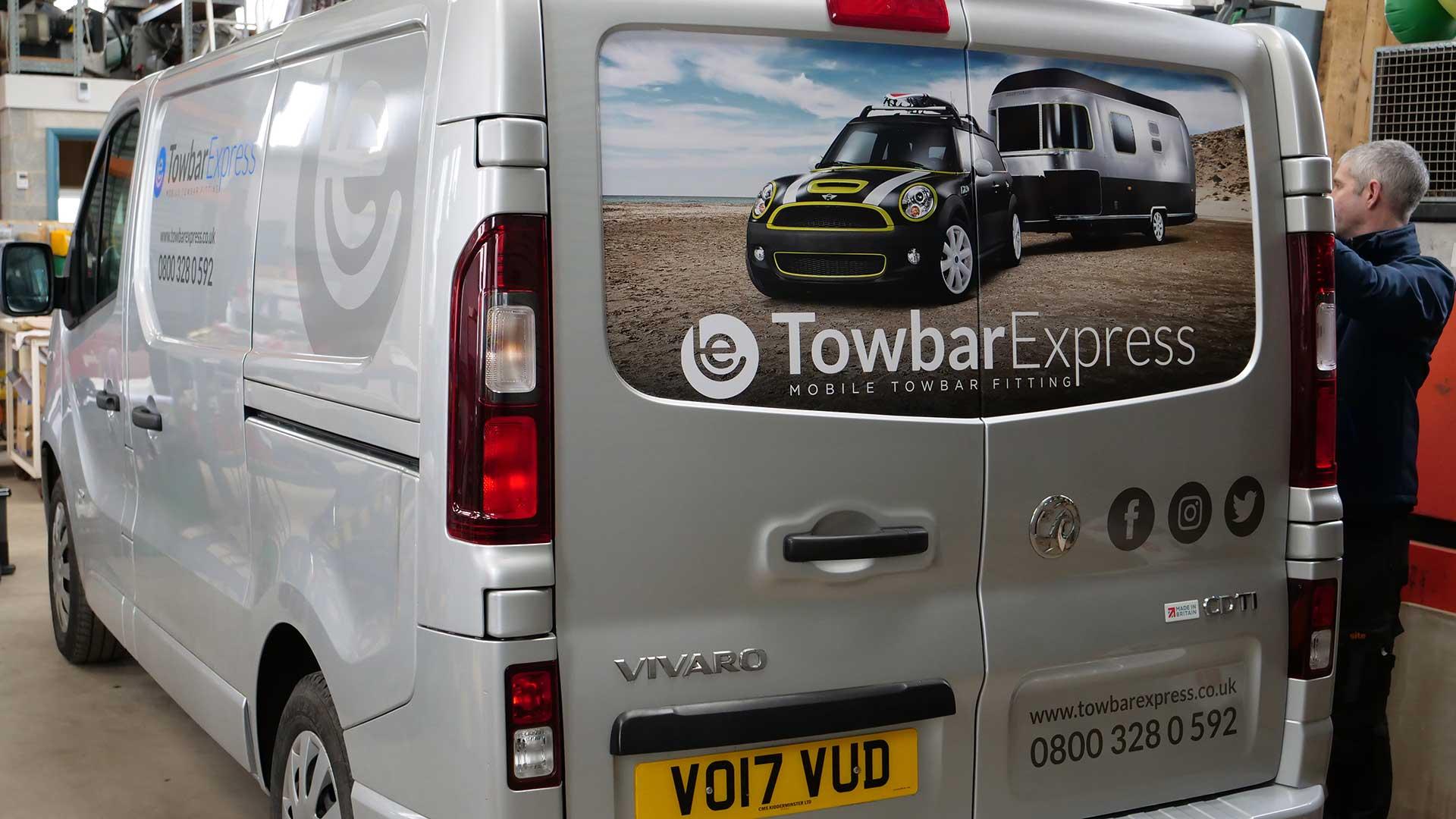 Towbar Express Van Signwriting