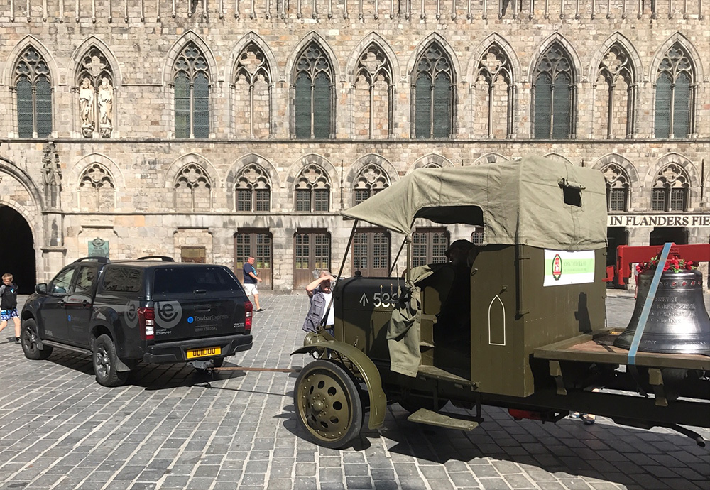 Towbar Express, towing the Ypres Bells