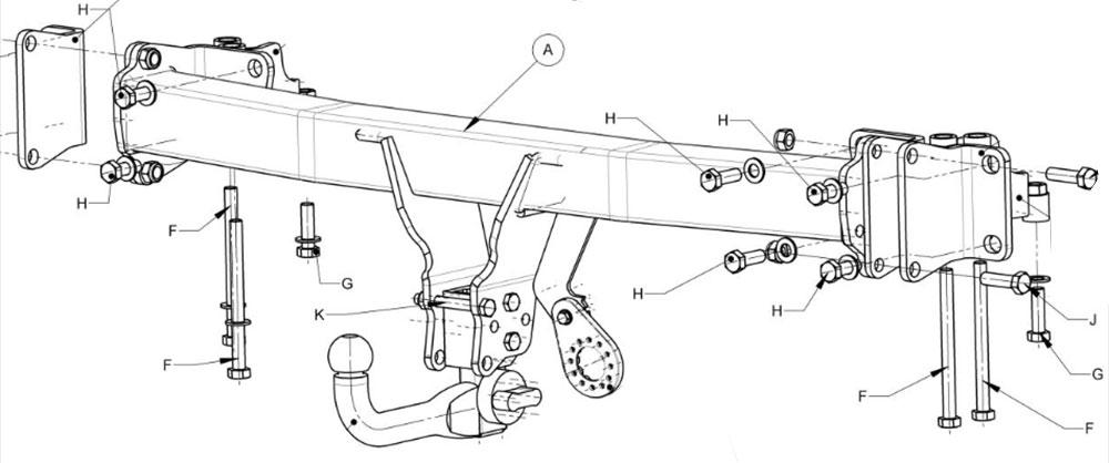 Landrover Discovery 5 Detachable Swan Neck Towbar