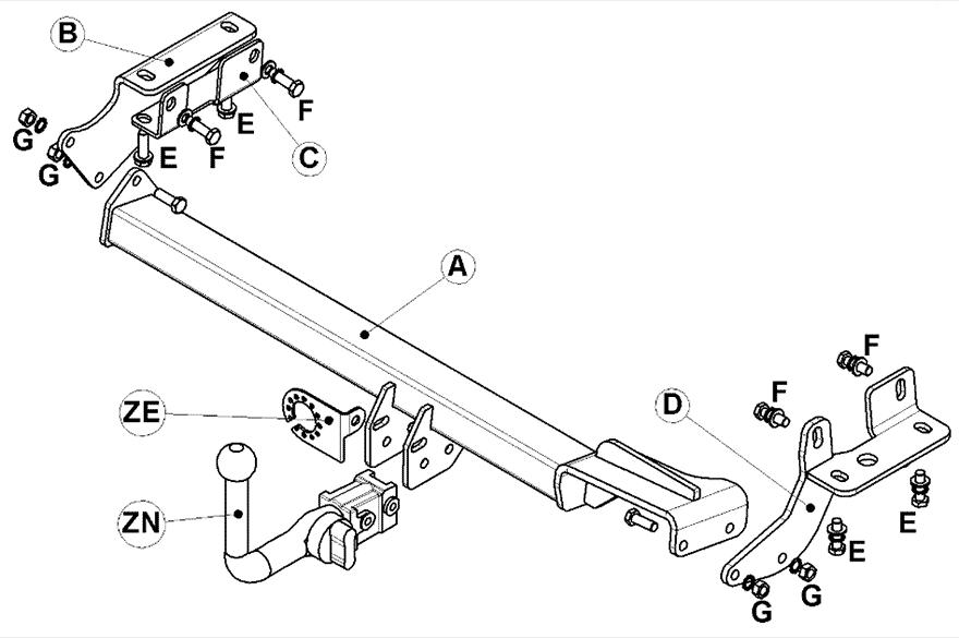 Ssangyong Tivoli Towbar Diagram