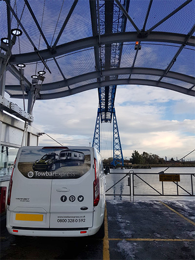 Towbar Express Van on Transporter Bridge